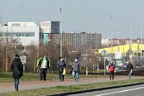 Ostrava-Hrabová, předměstí vesnického charakteru i průmyslová zóna, březen 2020.