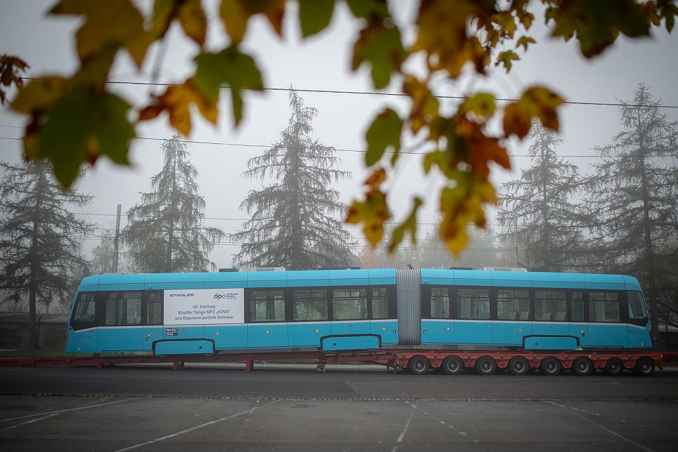 Slavnostní převzetí čtyřicáté tramvaje Stadler nOVA, 23. října 2019 v Ostravě.