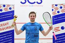 Ostravský squashista Jakub Solnický vyhrál turnaj PSA Czech Pro Series III 2021 v Praze.