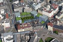Pohled na lokalitu náměstí dr. Beneše