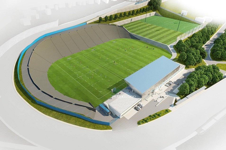Stadion Bazaly. Možná budoucí podoba.