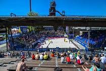 Turnaj Světového okruhu v plážovém volejbalu, 31. května 2019 v Ostravě. Na snímku DOV.