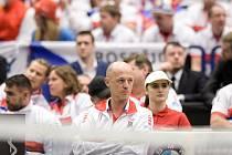 Fed Cup Ostrava, sobota 11. února 2017, na snímku trenér českého týmu Petr Pála.