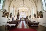 Římskokatolický farní kostel svatého Františka a Viktora v městské části Hrušov, 1. července 2019 v Ostravě.