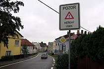 Úsekové měření v Odrách začíná před mostem přes Stodolní potok v Hranické ulici.