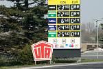 U silnice I/58 v Mošnově a ve Skotnici jsou pravděpodobně nejlevnější pohonné hmoty v regionu.