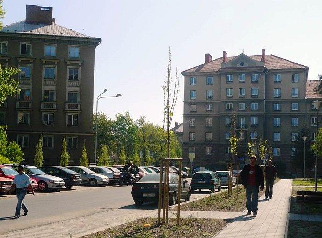 Budovatelská ulice v Ostravě-Porubě