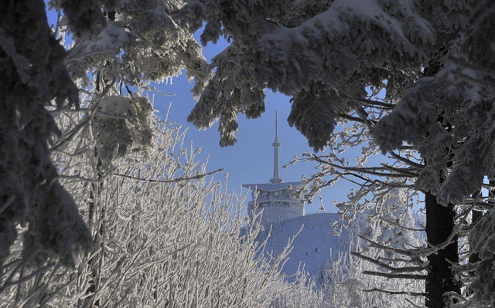 Lysá hora v Beskydech.