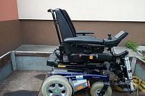 Darovaný vozíček.