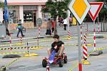 Různé atrakce spojené s dopravní bezpečností byly při Dni bezpečnosti k vidění na Masarykově náměstí v Ostravě