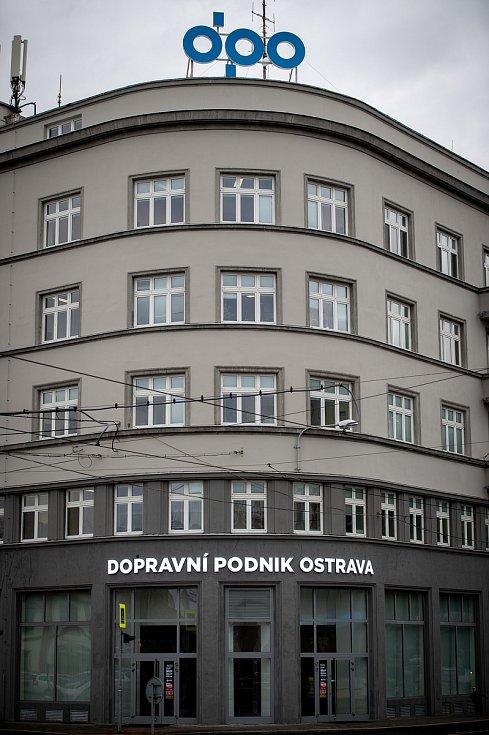 Budova dopravního podniku Ostrava, 31. ledna 2020. Ilustrační foto.