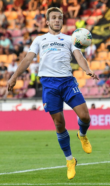 Nemanja Kuzmanovič z Ostravy - FORTUNA:LIGA - Skupina o titul - 2. kolo, AC Sparta Praha - FC Baník Ostrava, 23. června 2020 v Praze.