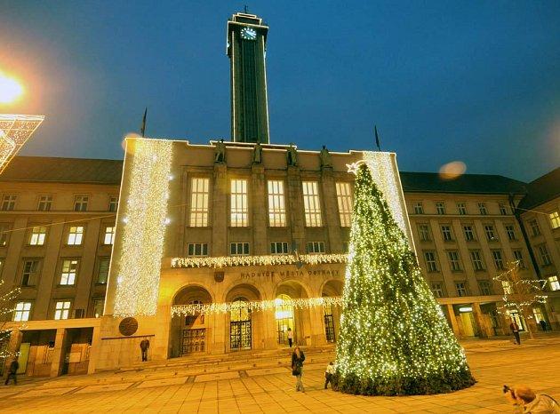 Vánoční Nová radnice v Ostravě