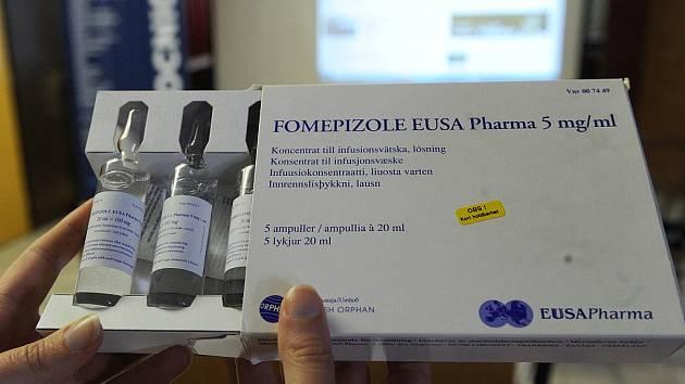Lék Fomepizol. Ilustrační foto.