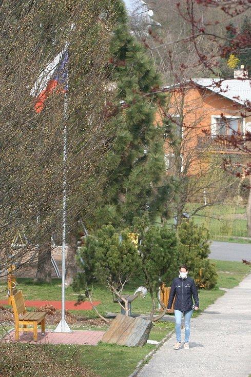 Ludgeřovice v době nouzového stavu a omezeného pohybu obyvatelstva kvůli koronavirové nákaze.
