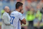 Milan Baroš v zápase se Spartou.