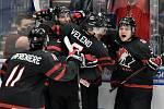 Mistrovství světa hokejistů do 20 let, finále: Rusko - Kanada, 5. ledna 2020 v Ostravě. Na snímku radost Kanady (Dylan Cozens).
