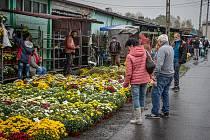 Trhy v Zabełkówe (Zabělkově), 24. říjen 2020.