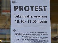 Stávka lékařů a protest lékárníků 18. října 2017 v Ostravě.