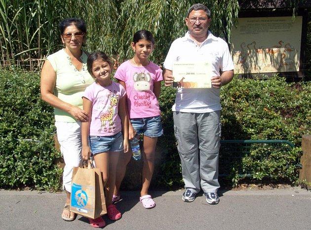 Dvousettisícími návštěvníky ostravské zoo se stala rodina Holubových