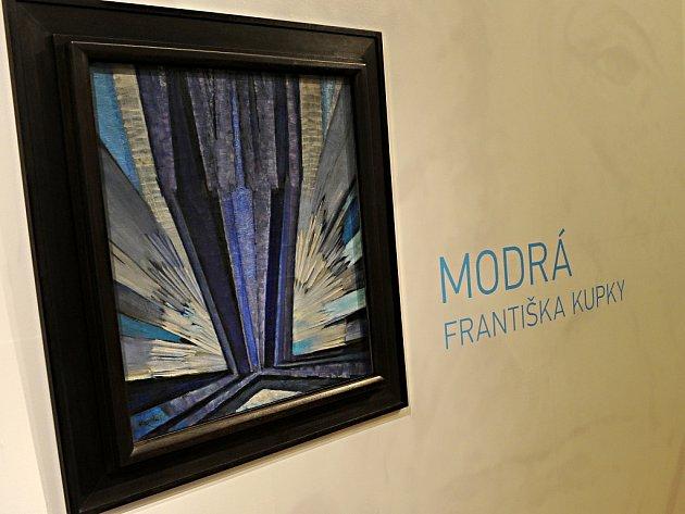 GVU v Ostravě představila ve výstavní síni pro veřejnost obraz významného českého malíře Františka Kupky – Modrá.