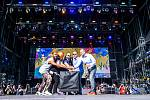 Hudební festival Colours of Ostrava 2019 v Dolní oblasti Vítkovice, 17. července 2019 v Ostravě. Na snímku zahájení Colours Ostrava.