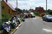 Tragická nehoda při závodech Okruhu Františka Bartoše v Ostravě-Radvanicích 13. července 2014.