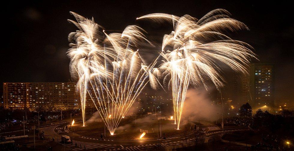 Novoroční ohňostroj v Ostravě-Hrabůvce. Ilustrační foto.