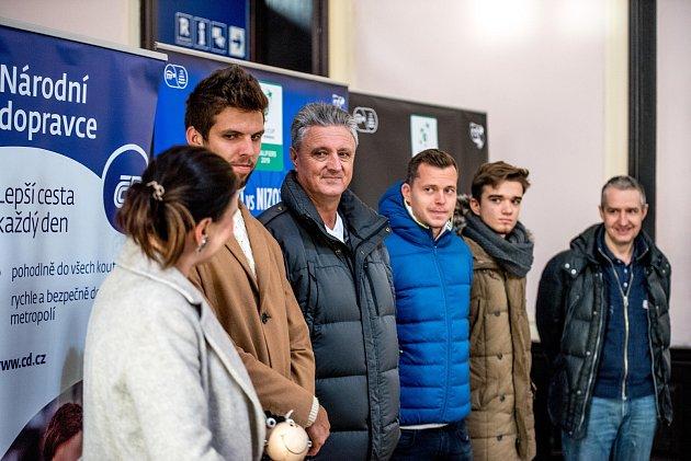 Příjezd českého Davis Cup týmu na nádraží Ostrava-Svinov, 27.ledna 2019vOstravě.