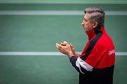 1. kolo tenisového Fed Cupu: Česká Republika - Rumunsko, 10. února 2019 v Ostravě. Na snímku trenér rumunska Florin Segarceanu.