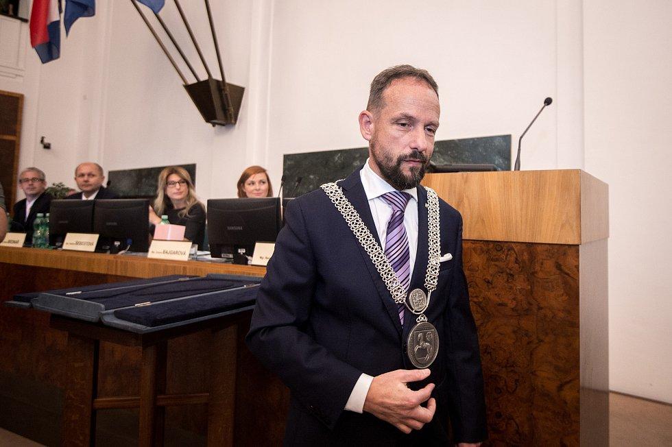 Zastupitelé Ostravy volili na ustavujícím zasedání 7. listopadu 2018 nové vedení města. Na snímku Tomáš Macura (ANO).