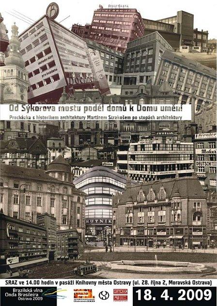 Plakát k Procházce Ostravou