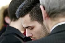 Na snímku Patrik Kaifáš, jeden z obžalovaných mladíků, kteří napadli zpěváka Michala Hrůzu.