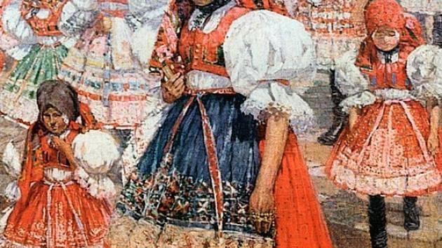 Výřez z obrazu malíře Jóži Úprky