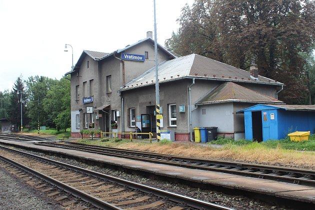 Železniční nádraží ve Vratimově.
