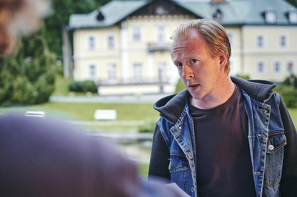 Natáčení 9. dílu krimiserálu Místo zločinu Ostrava v Karlově Studánce.