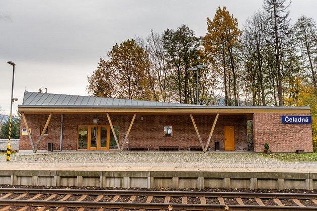 Stavba čtvrtstoletí, 12.listopadu 2019vČeladné. Železniční zastávka Čeladná.