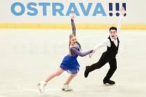 Mezinárodní mistrovství ČR v krasobruslení v Ostravar Aréně, 13. prosince 2019 v Ostravě. Na snímku Denisa Cimlová a Vilém Hlavsa.
