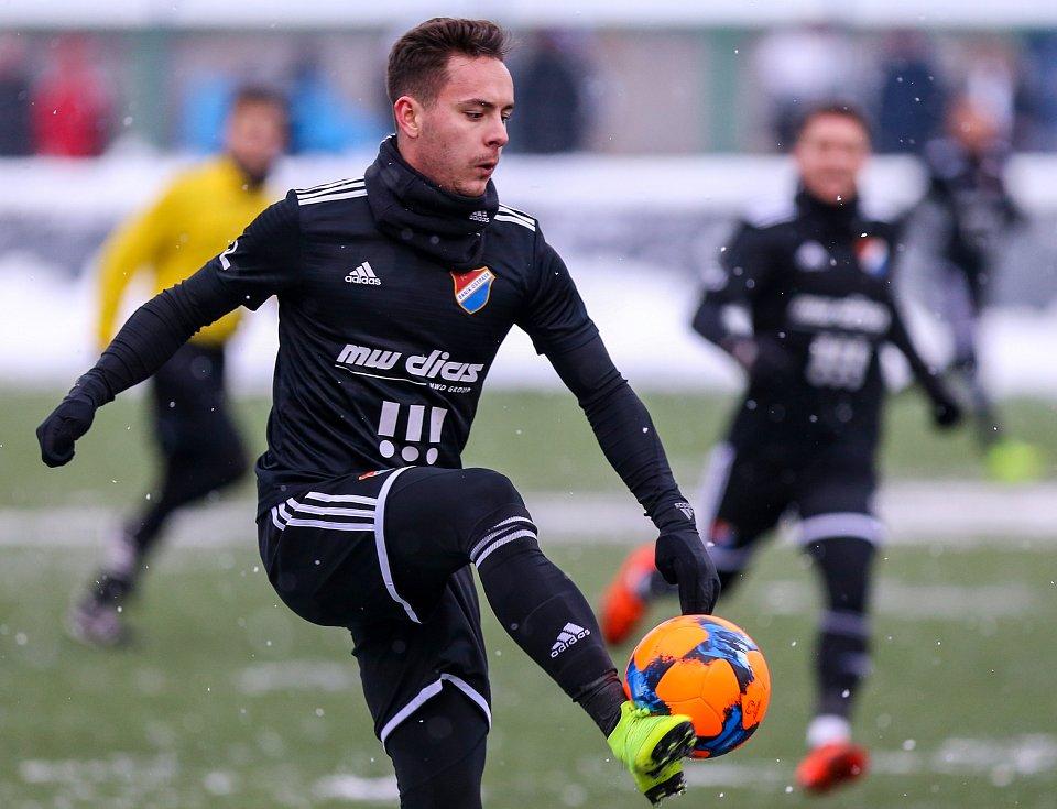 První přípravný zápas Tipsport ligy: Baník Ostrava - 1.SK Prostějov, 8. ledna 2019 v Orlové. Na snímku Daniel Holzer z Baníku Ostrava.