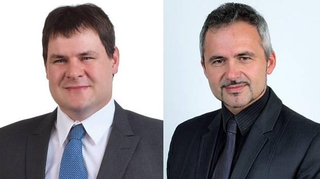 Jaroslav Varga (na snímku vlevo) je novým starostou města Klimkovic. Zdeňka Husťáka (na snímku vpravo) odvolali zastupitelé města.