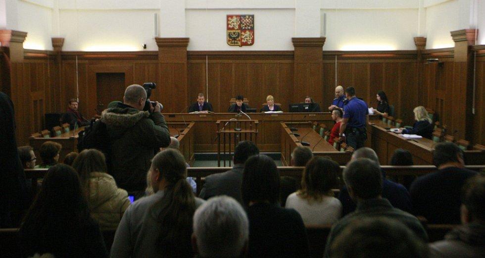 Jednací síň ostravského krajského soudu.