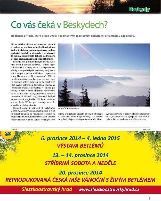 Příloha tištěného vydání Deníku Beskydy z 29. listopadu 2014.