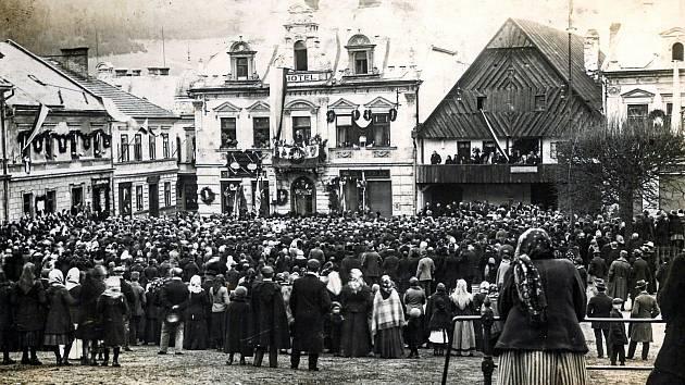Vznik Československé republiky v roce 1918 - Ilustrační foto.