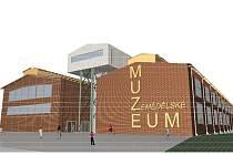 Vizualizace pobočky Národního zemědělského muzea v Ostravě.