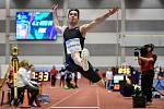 Mezinárodní halový atletický mítink Czech Indoor Gala 2020, 5. února 2020 v Ostravě. Skok daleký, muži Miltiadis Tentoglou z Řecka.