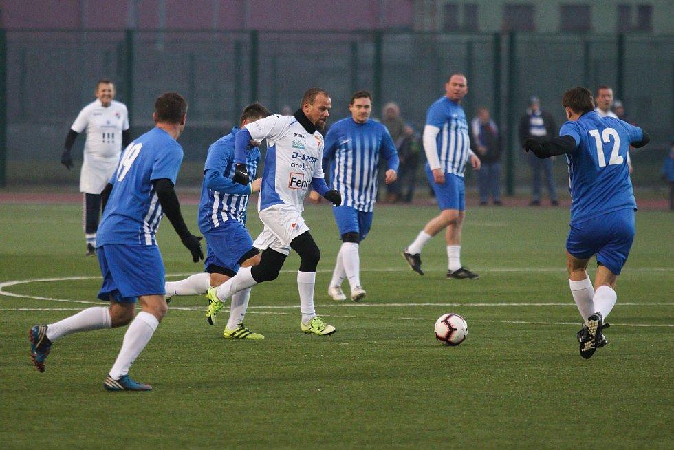 Fotbalové derby Starých gard Baníku a Vítkovic, 28. prosince 2018 v Ostravě.