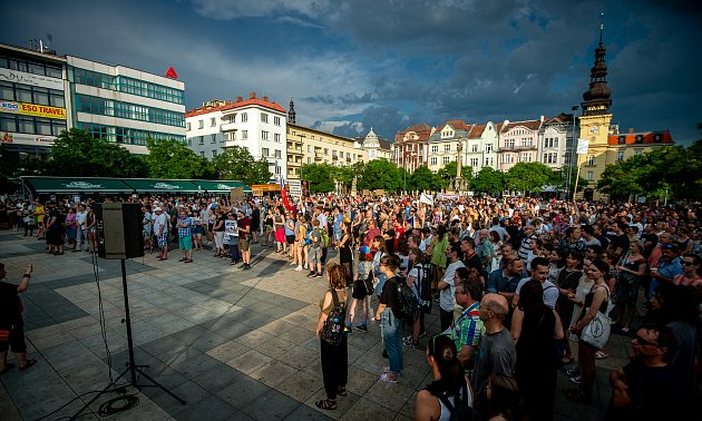 Demonstrace Milion chvilek pro demokracii v MS kraji