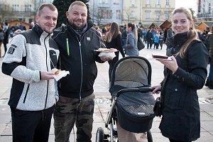 Restaurant Day Ostrava 2017 na Masarykově náměstí.
