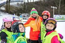 Skalka family park, 22. ledna 2020 v Ostravě. Instruktorka lyžování Barbora Kališková.