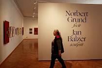 Snímek z příprav výstavního projektu Norbert Grund fecit / Jan Balzer sculpsit v ostravském Domě umění.